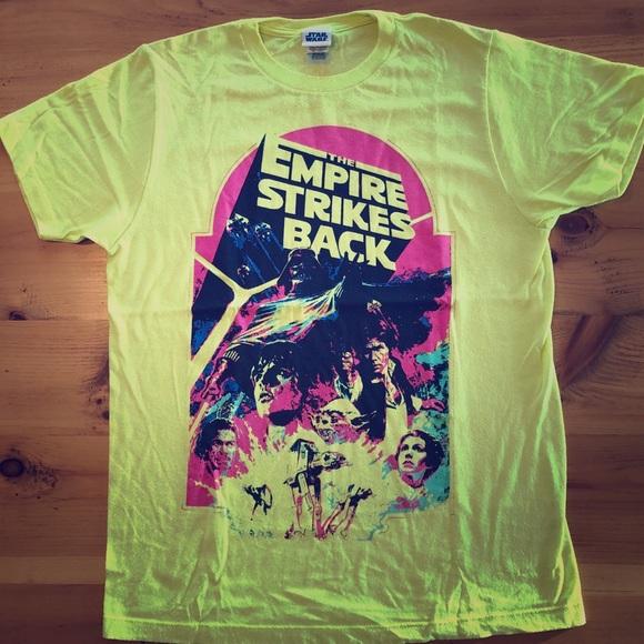 Star Wars Empire Strikes Back neon men's tee shirt